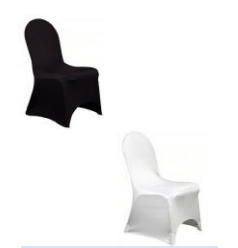Couvre chaise Spendex / satin Décoration [tag]